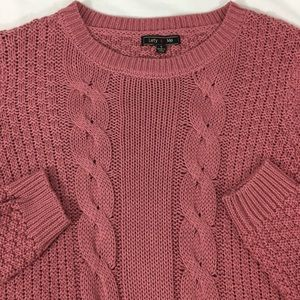 Lety & Me NWT Cable Knit Sweater Mauve Sz Small